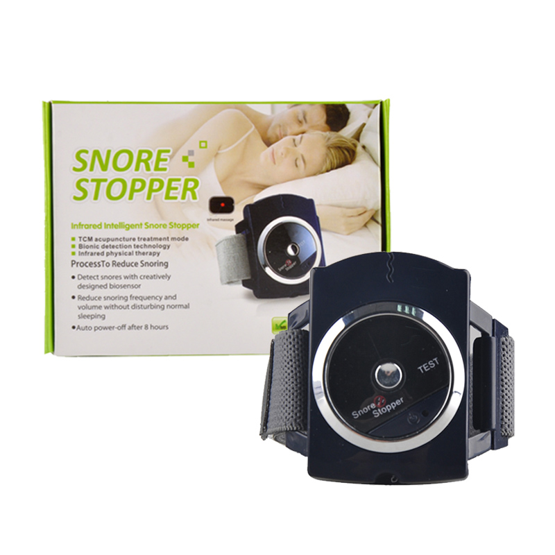 Infrared Ray Intelligent Anti-Snore Machine Smart Snoring Stopper Wristband Device Stop Snoring Biosensor Watch Sleeping Aid