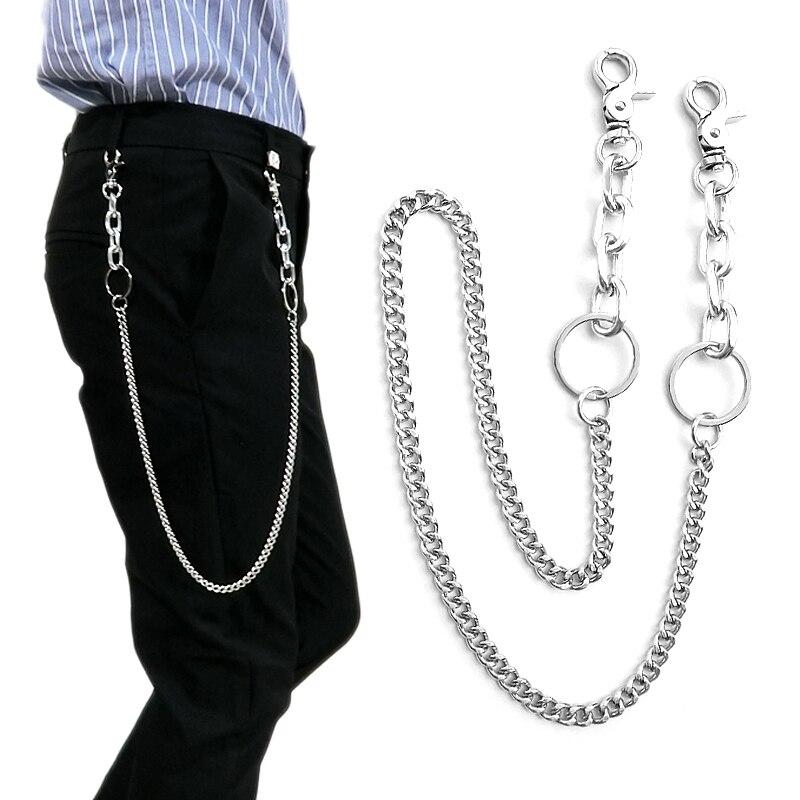 Metal Wallet Belt Chain Rock Punk Trousers Hipster Pant Hip hop-Jean-Keychain
