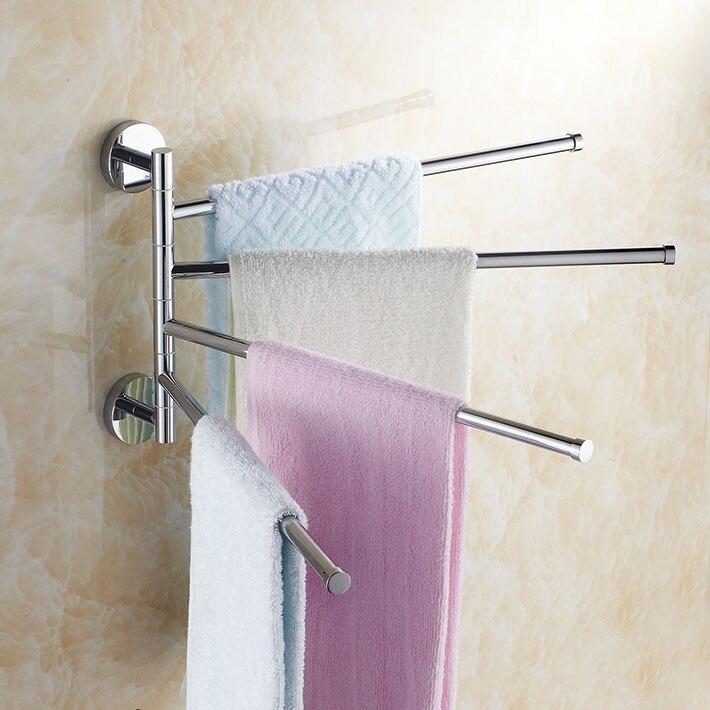 ФОТО Copper 360 Degree Rotation Towel Rack four  Layer Activities Towel Bar Bathroom Accessories bathroom shelves