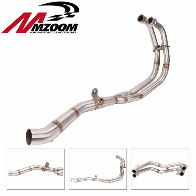 Motorcycle Middle pipe Full System Exhaust Slip On For Yamaha MT03 MT 03 YZF R3 R25 YZF R3 YZF R25 2014 to 2018 without exhaust
