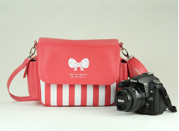 Cute Pink Dslr Slr Camera Video Bag For Canon 600d 650d 70d 100d Sony Nikon Or Panasonnic Pentax Size S In Bags From Consumer