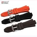 29*13mm(lug) black brown dark blue brown rubber watchband for men's MK Waterproof sports watch strap Bracelet