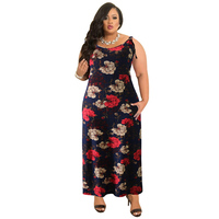 Big Plus Size 2018 Women Sexy Long Backless African Floral Print Bodycon Maxi Dress Summer Evening Party Dresses Vestido Longo