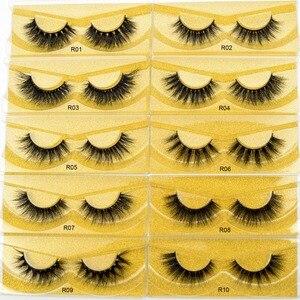 Image 3 - 100 pairs Wholesale Free DHL Shipping Visofree 3D Mink Lashes Hand Made Full Strip Mink Eyelashes Cruelty free False Eyelashes