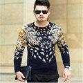 2017 new arrival autumn long sleeved sweater man knit printing fashion casual high qualtiy men plus size S M L XL 2XL3XL4XL 1602