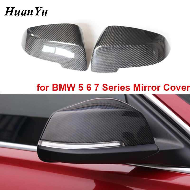 F10 F18 LCI Replacement Mirror Caps for <font><b>BMW</b></font> 5 6 7 Series F07 F06 F12 F13 F01 F02 2014 <font><b>2015</b></font>+ Carbon Fiber Side Rearview Cover image
