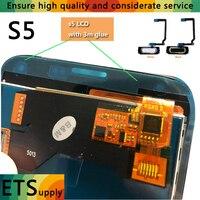 Nie Pikseli Wyświetlacz TFT Dla lcd Samsung s5 G900 SM-G900 SM-G900F AA + + Jakości LCD Dotykowy Przycisk Start 3 M Klej Zgromadzenie Free Shipping