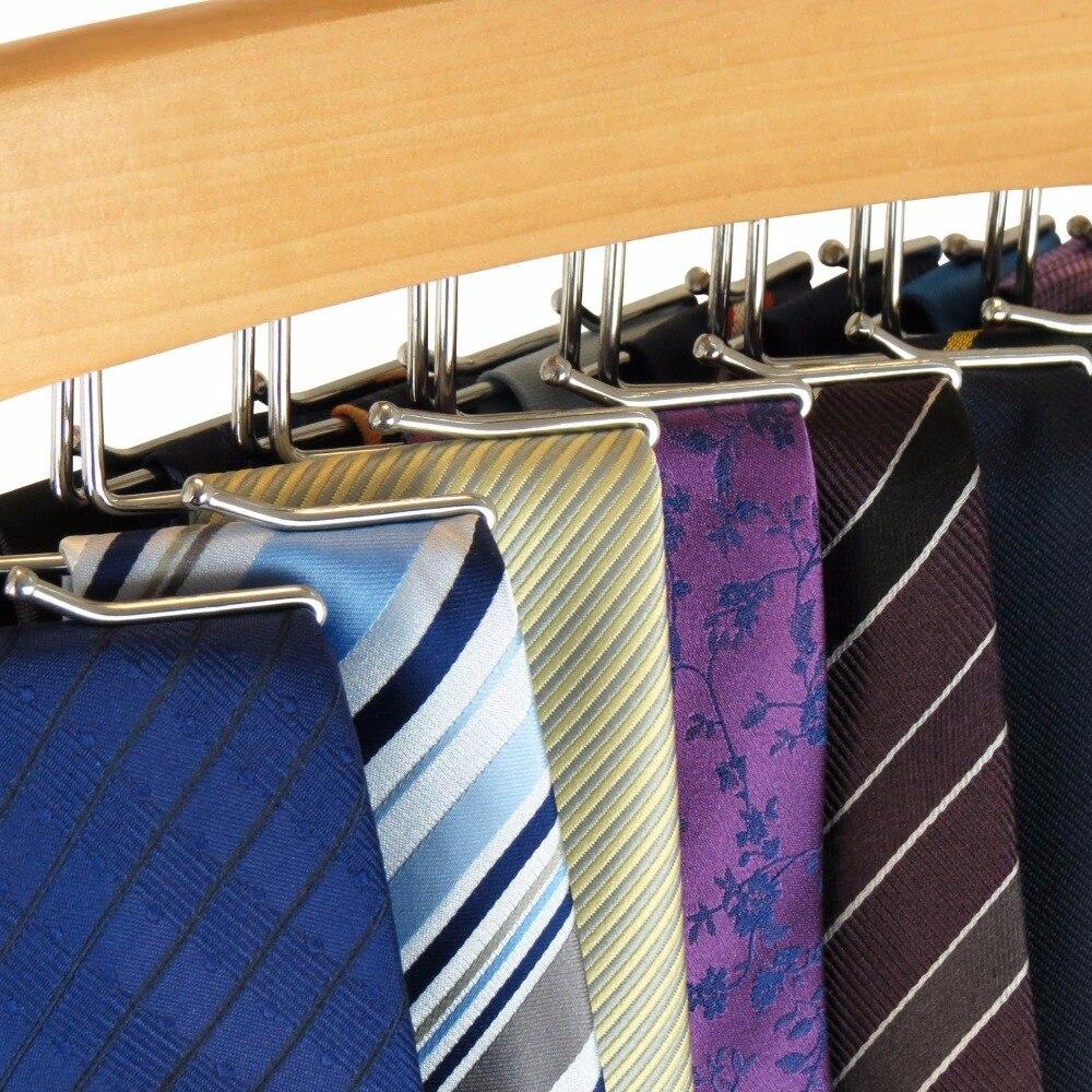 Купить с кэшбэком Natural Beech Wood Single Wooden Tie Hanger Organiser Rack - Holds 24 Ties