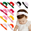 Free Shipping 10pcs/lot Baby Girl's Cotton Color Patch Rabbit Style Headbands
