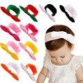 O Envio gratuito de 10 pçs/lote Remendo Cor da menina do Algodão Do Bebê Estilo Coelho Headbands