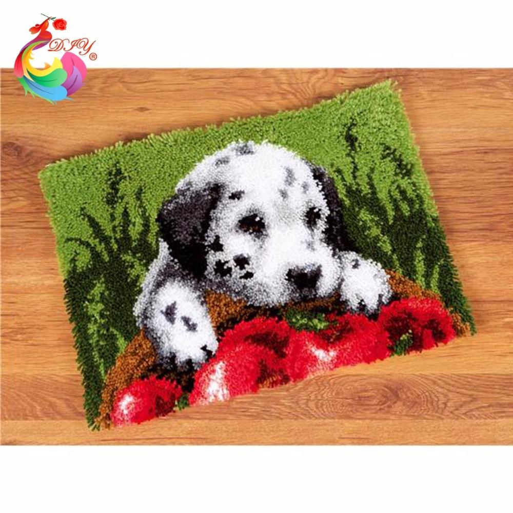 السجاد غرزة مواضيع الكلب حصيرة هوك - الفنون والحرف والخياطة