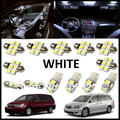 13PCS Set White LED Lights Interior Package Kit For Honda Odyssey 2005-2010