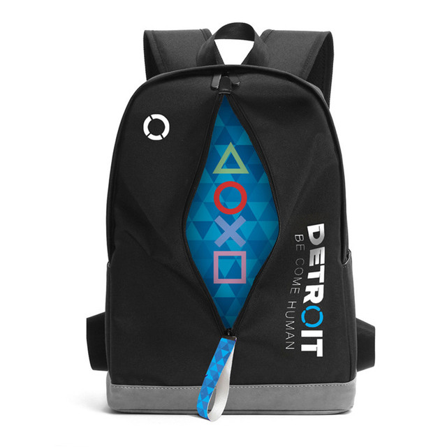 d088bdc7fd74 US $29.49 41% OFF|Game Detroit:Become Human Design Backpack Bag School  Backpacks Laptop Shoulder Bags Cosplay Mochila Backpack Sports Backpacke-in  ...