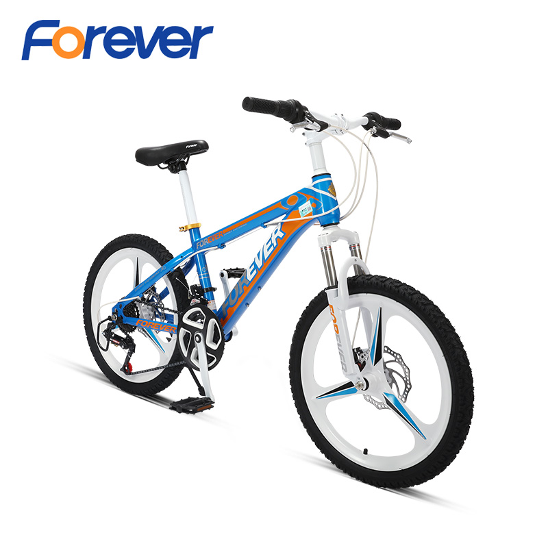 FOREVER Mountain Bike For Teenager Suspension Al Magnesium Alloy Integrated Wheel Bicycle 3 Knives 24speed MTB For Students 20in
