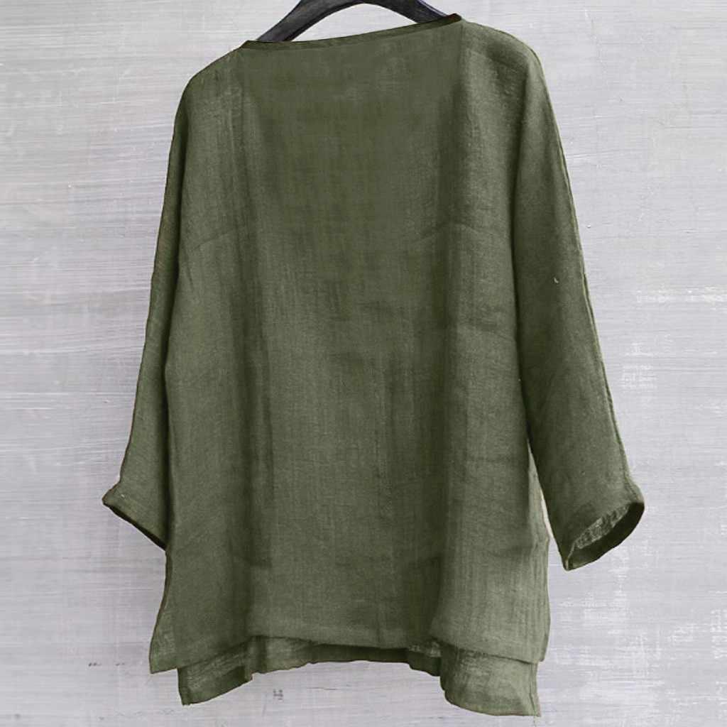 Feitong メンズ綿とラインシャツ夏トップス簡単な通気性の快適な無地長袖ルーズカジュアルシャツビーチブラウス