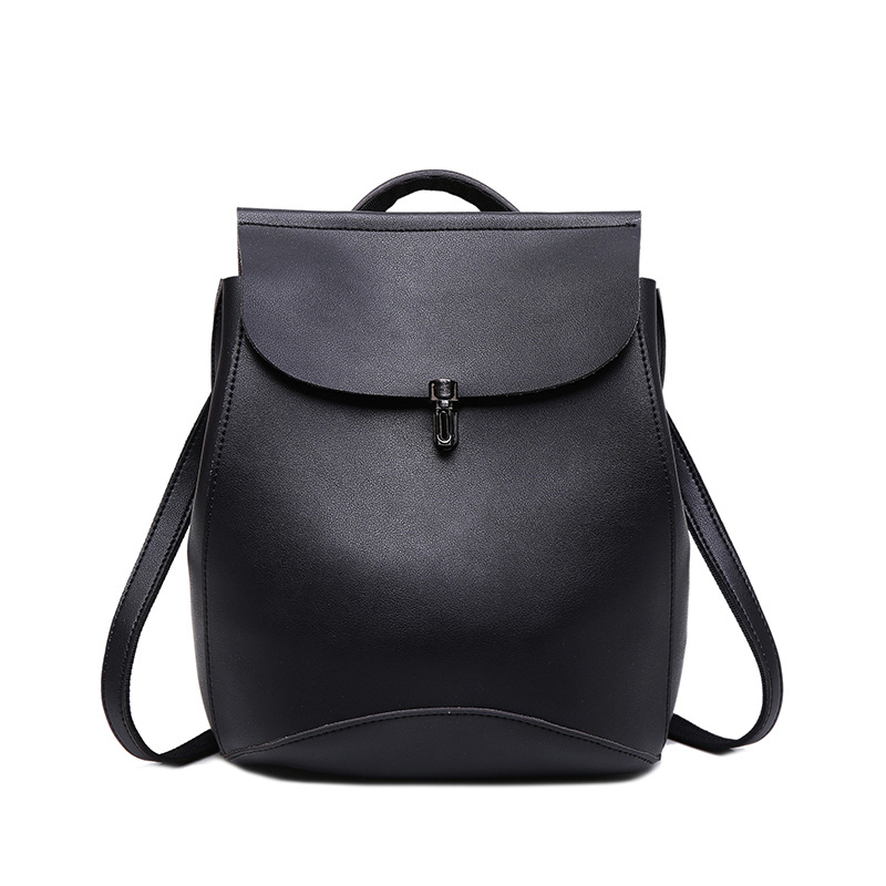 Vintage backpack Women Pu leather Woman Backpack High Quality Softback Mochilas Mujer School Bags For Teenagers