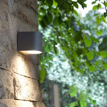 Moderna Applique Da Parete A Led Portico Luci per il bagno Impermeabile Giardino Esterno di Illuminazione A Casa Lampada Da Parete In Alluminio con Lampadine Fonti