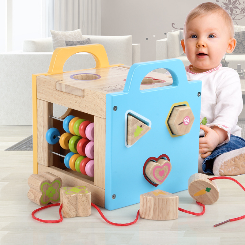 1PCS Children's Baby Building Toys Toys, Infants, Intelligence, Early Education, Boys and Girls Solid Wood System