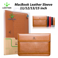LENTION Premium Quality Leather Sleeve Bag Case For 13 Inch MacBook Air 13 MacBook Pro And