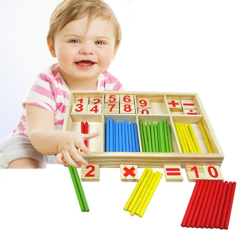 2018 New Mathematical Intelligence Stick Baby Toy Wooden ...