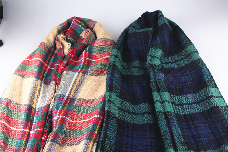 women big size cashmere type tartan plaid scarf thick basic wrap shawl christmas gift wj002 in scarves from womens clothing accessories on aliexpresscom - Christmas Plaid Scarf