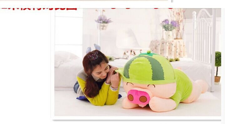 huge 100cm Mcdull pig Plush toy  sleeping pillow toy, birthday gift p9556 large 90cm cute pink pig plush toy cartoon pig down cotton very soft doll sleeping pillow birthday gift s0635