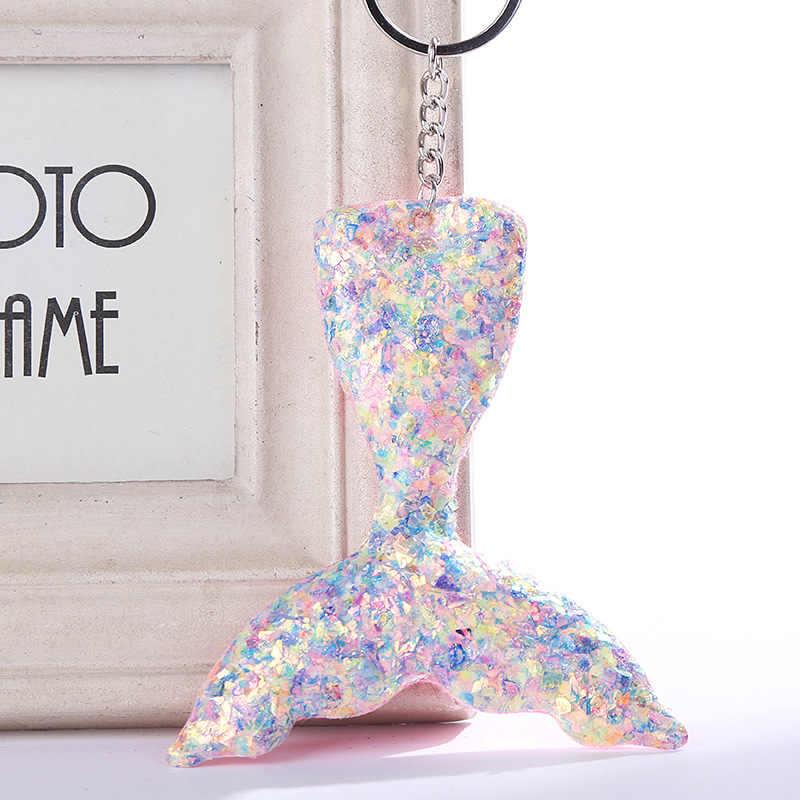 Милое одеяло «хвост русалки» брелок, подарки для Для женщин сумка автомобиль красочные яркие пайетки цепочка для ключей llaveros para mujer 2019 ювелирные изделия MQ36
