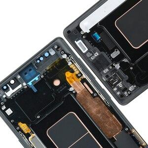 Image 5 - ORIGINAL SUPER AMOLED 6,4 LCD mit rahmen für SAMSUNG GALAXY Note 9 Note9 N960F Display Touchscreen Digitizer Montage