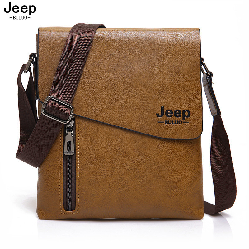 JEEP BULUO 2017 New Style Male Tote Bag High Quality Leather Messenger Bags For Men Fashion Crossbody Travel Bags Hobos 1502
