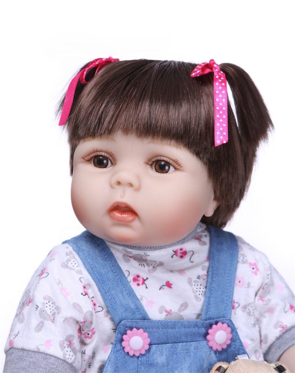 NPKCOLLECTION nowy prawdziwe 56 CM pełna ciała silikonowe dziewczyna Reborn Babies lalki urocza realistyczne maluch dziecko towarzysze zabaw dla dzieci zabawki w Lalki od Zabawki i hobby na  Grupa 3