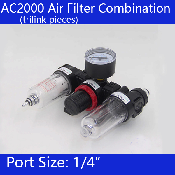 Free shipping Pneumatic Parts Air Source treatment unit pressure regulator Oil/water separation AC2000  цены