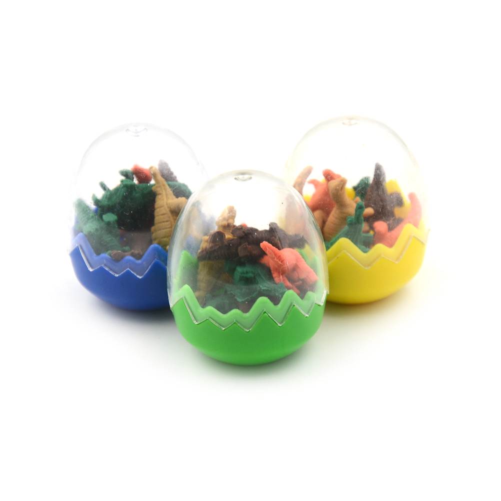 Eraser 8 Pcs/lot Korean Mini Creative Kawaii Dinosaur Eggs Gift Eraser For Kids Student Random