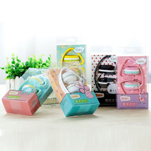 HOT Birthday Gifts Cute Headphones Candy Colors Foldable Kids Children Girl Headset Earphone For Xiaomi Mp3 Smartphone PC Laptop