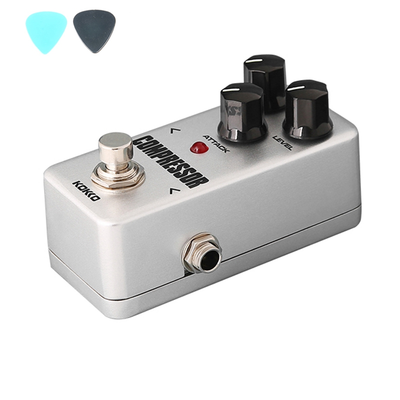 KOKKO FCP2 Mini Compressor Portable Guitar Effect Pedal High Quality True bypass Guitar Pedal Accessories mooer ensemble queen bass chorus effect pedal mini guitar effects true bypass with free connector and footswitch topper