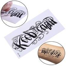 Для мужчин и женщин 3d боди-арт буквенный дизайн маленькая татуировка наклейка интимные товары водонепроницаемые Временные татуировки