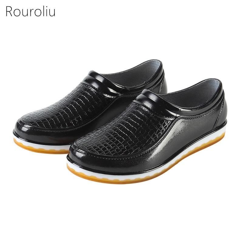 Kitchen Work Shoes: Rouroliu Women Kitchen Work Rain Shoes Waterproof Water