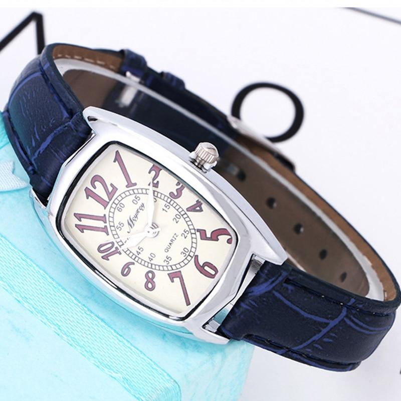 BGG Merk Vierkante Wijzerplaat Dames Horloge Rode Band Quartz Horloge - Dameshorloges - Foto 2