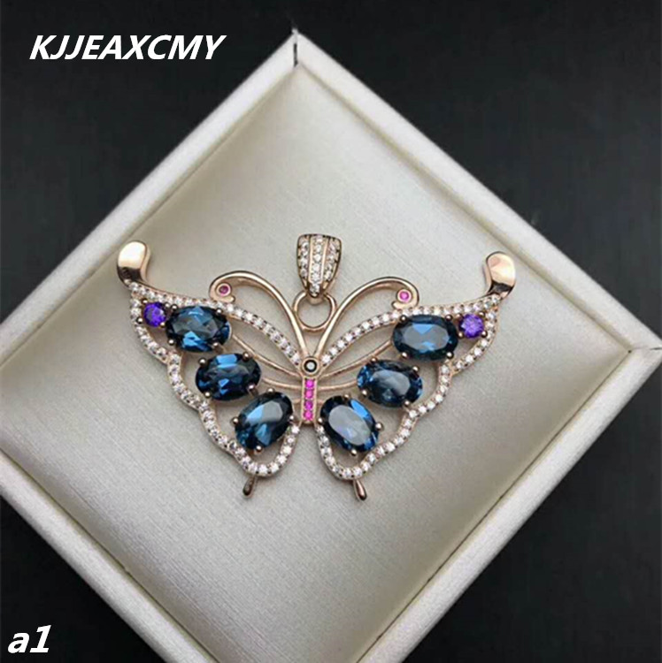 KJJEAXCMY boutique jewelry,925 sterling silver inlaid natural Tan Sangshaituo Pendant Necklace Chain set shinv Bo