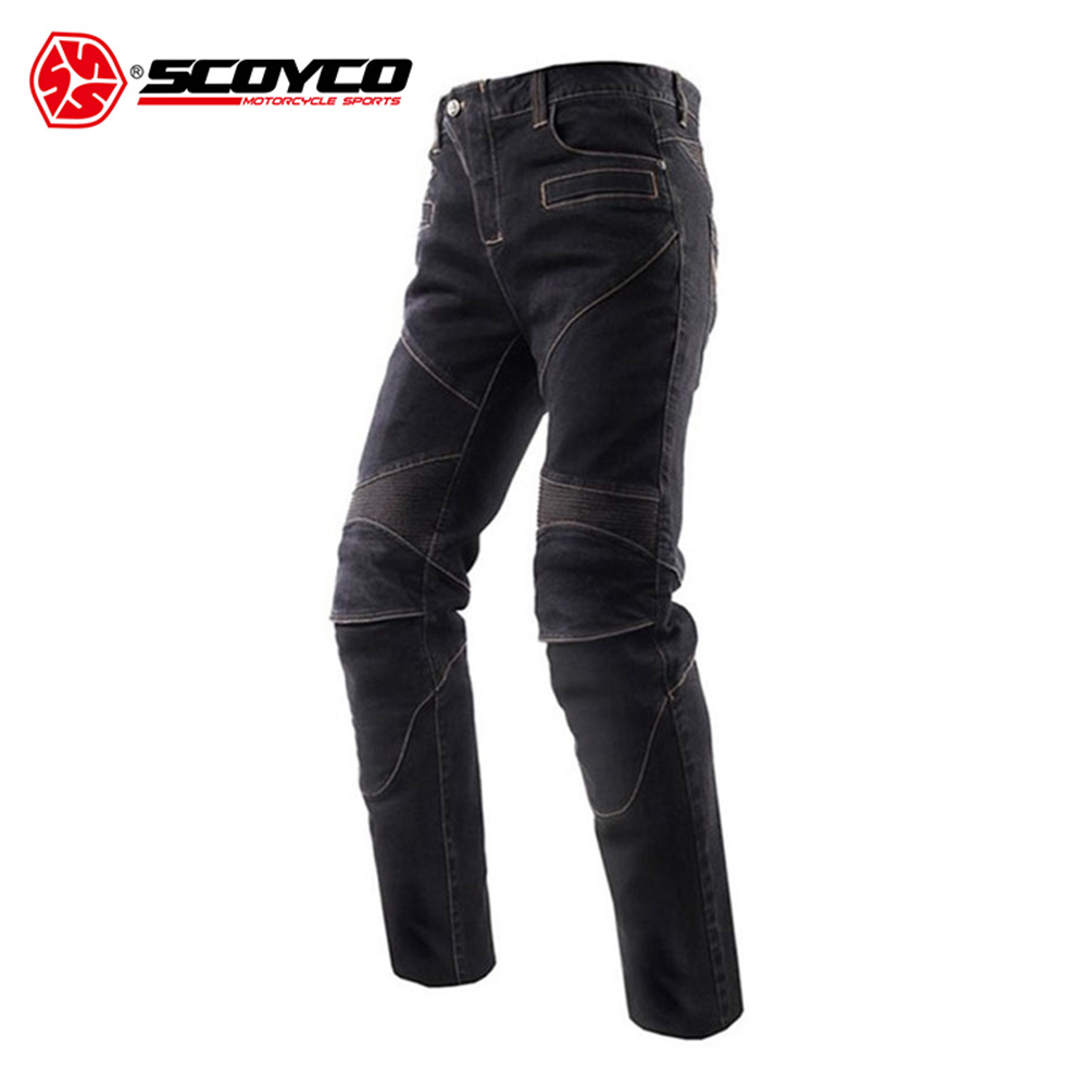 SCOYCO Motorcycle Jeans Motorcycle Pants Trousers Men's Off-Road Racing Pants Motorbike Jeans with CE Protectors S-XXXL 2017 new designer korea men s jeans slim fit classic denim jeans pants straight trousers leg blue big size 30 34