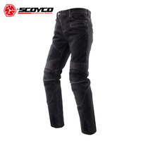 SCOYCO Motorcycle Jeans Motorcycle Pants Trousers Men's Off Road Racing Pants Motorbike Jeans with CE Protectors S XXXL