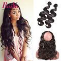 360 Lace Frontal With Bundles Peruvian Virgin Hair Body Wave 360 Lace Frontal Closure With Bundles Pre Plucked Lace Frontal Band