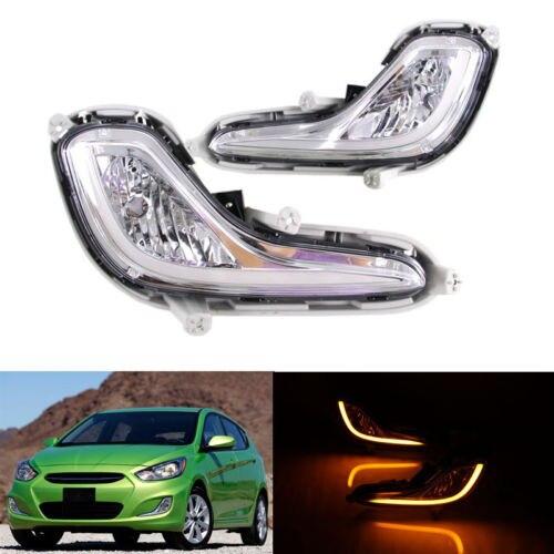 For Hyundai Accent 2012-2016 Daytime Running Lights DRL Cornering Lamp hyundai accent hatchback ii бу москва