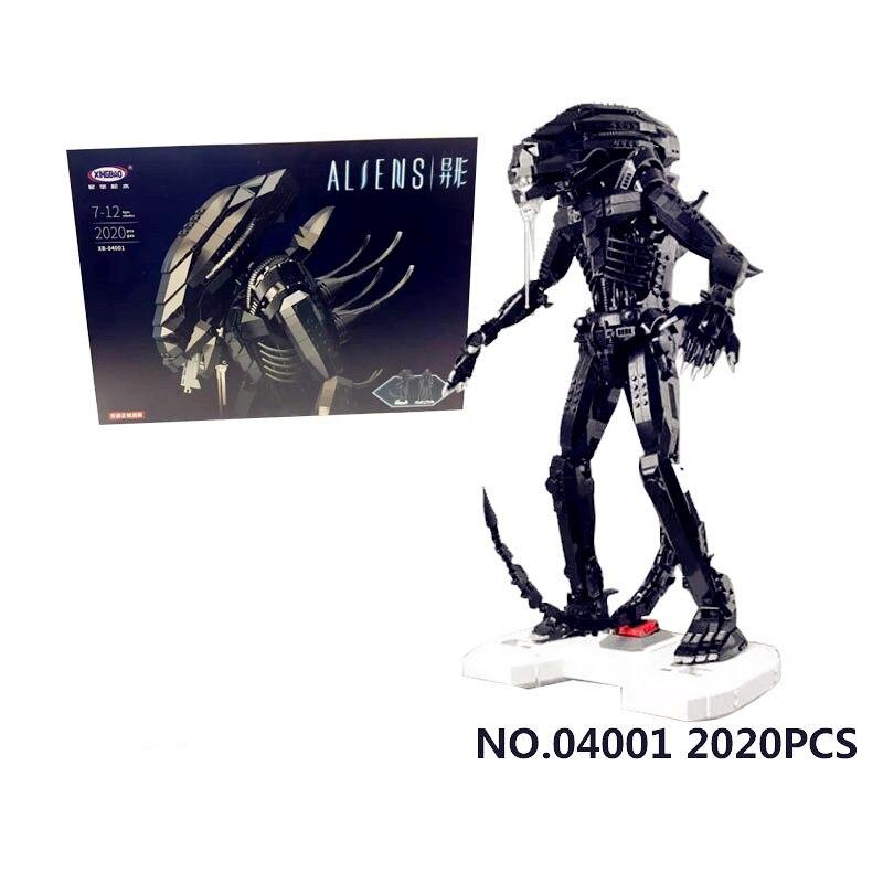 IN MAGAZZINO XingBao 04001 2020 Pz Genuino Creativo Serie Movie Il Robot Alieno Set bambini Educational Building Blocks Mattoni Giocattoli