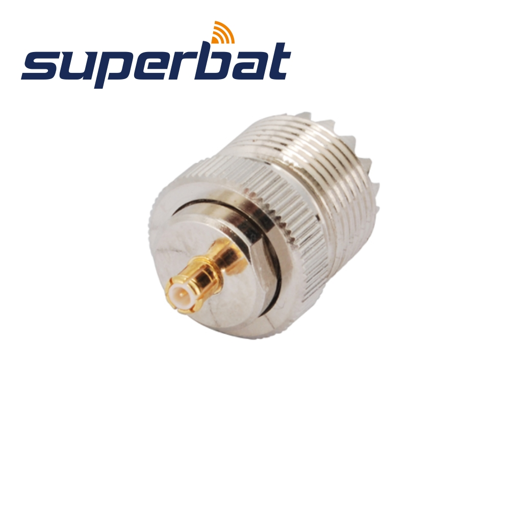 Superbat MCX Plug Male To UHF Jack Female Adapter Straight