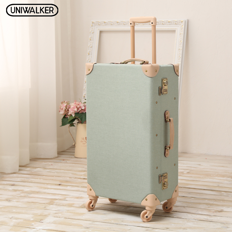 12 20 24 26 Inch 2PCS/SET Oxford Travel Trolley Luggage Scratch Resistant Rolling Luggage Bags Suitcase With TSA Lock 20 26 dark green vintage suitcase pu leather travel suitcase scratch resistant rolling luggage bags with universal wheels