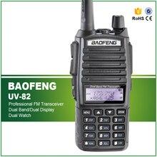 цена Original Handheld Walkie Talkie BaoFeng UV-82 Dual Band 136-174MHz&400-520MHz with Double PTT Button Two Way Radio UV82 онлайн в 2017 году