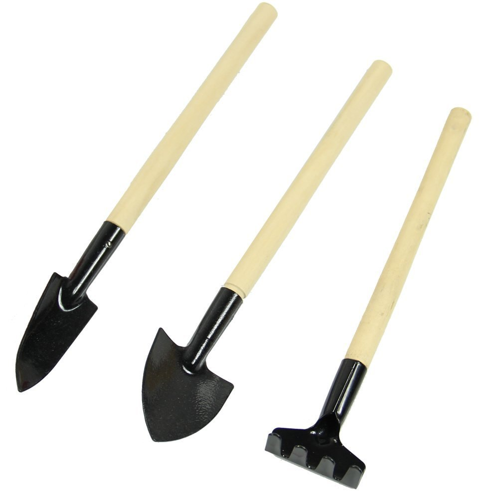 Aliexpress.com : Buy 3Pcs Mini Garden Hand Tool Kit Plant Gardening Shovel  Spade Rake Trowel Wooden Handle Metal Head Gardener Planting Tools Set From  ...