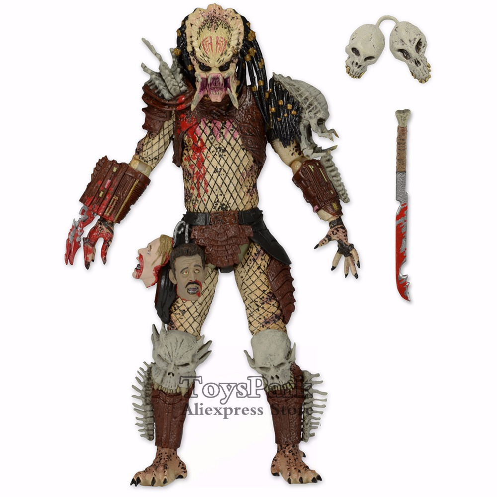 ToysPark Predator 7 Bad Bloody Deluxe Action Figure Based On The DARK HORSE 2014 NECA Predator Series 12 Collectible New In Box цена