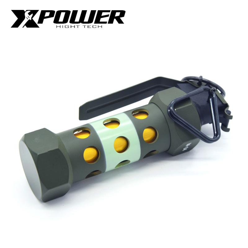 XP XPOWER M84 flashbomb 1:1 modelo Boutique AEG juguetes Metal verde