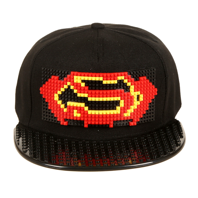 New Design Super Batman Snapback Hats Games DIY Detachable Baseball Caps  For Women Men Summer Legos a0b9f4ef89dc